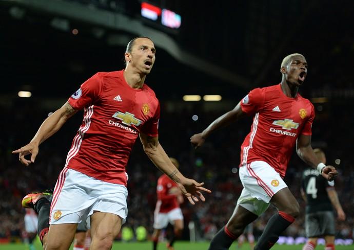 Ibrahimovic Pogba Manchester United Southampton (Foto: AFP)