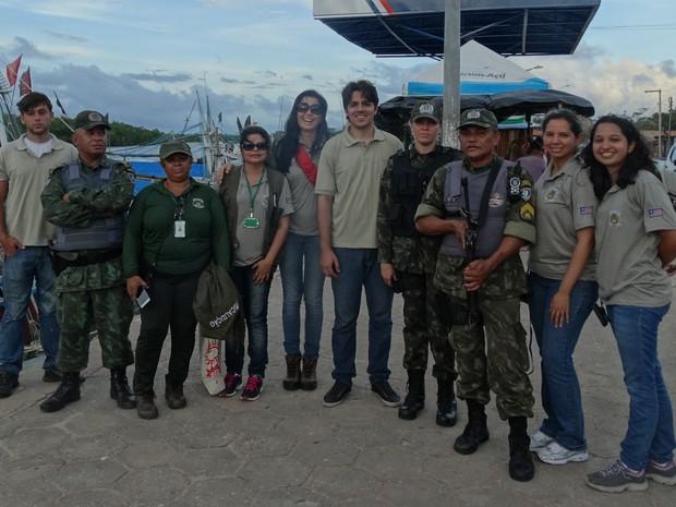 Equipe de fiscalização que atuou na fiscalizaçãooperação durante o período do defeso  (Foto: Divulgação/Sema)
