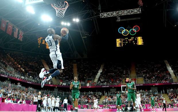 LeBron James na partida dos Estados Unidos contra a Nigéria (Foto: Agência Getty Images)