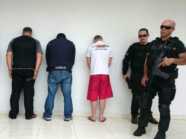 Polícia de Sorocaba apresentou suspeitos de sequestro (Foto: Natália de Oliveira/G1)