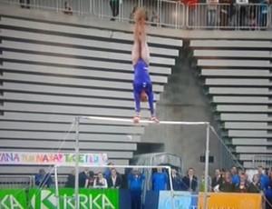 Rebeca Andrade fica com bronze na Eslovênia (Foto: Reprodução)