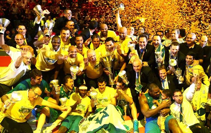 Comemoração Maccabi Tel Aviv (Foto: Reuters)