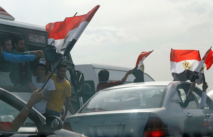 Torcida Egito Borg El Arab, Alexandria (Foto: Reuters)