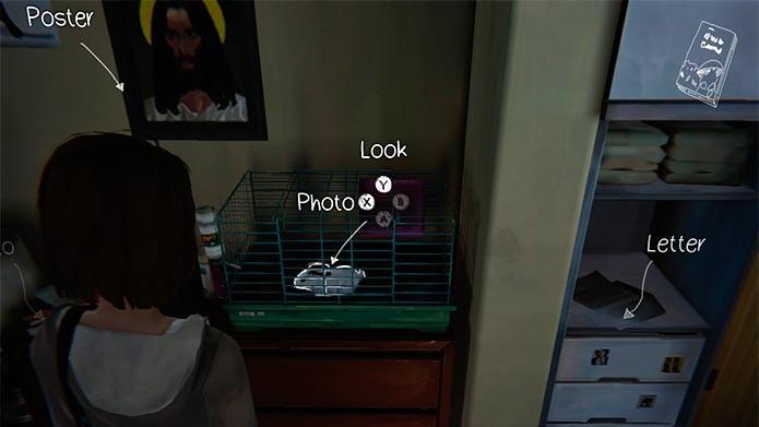 Entre no quarto e tire foto do coelho na gaiola (Foto: Reprodução/Tais Carvalho)