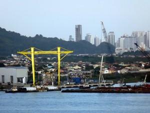 Porto de Santos, SP (Foto: Ivair Vieira Jr/G1)