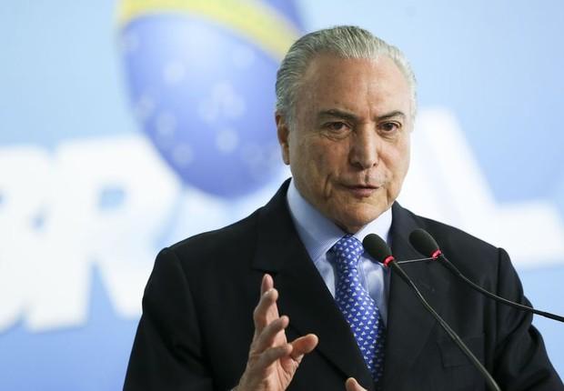 O presidente Michel Temer anuncia verbas para a saúde (Foto: Marcelo Camargo/Agência Brasil)