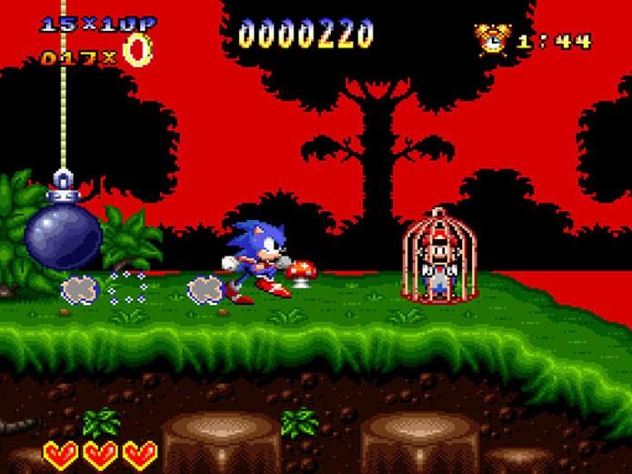 Sonic pintou no SNES ao lado de Mario (Foto: Reprodução)