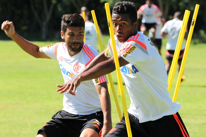 Eduardo da Silva Treino do Flamengo (Foto: Gilvan de Souza / Flamengo)