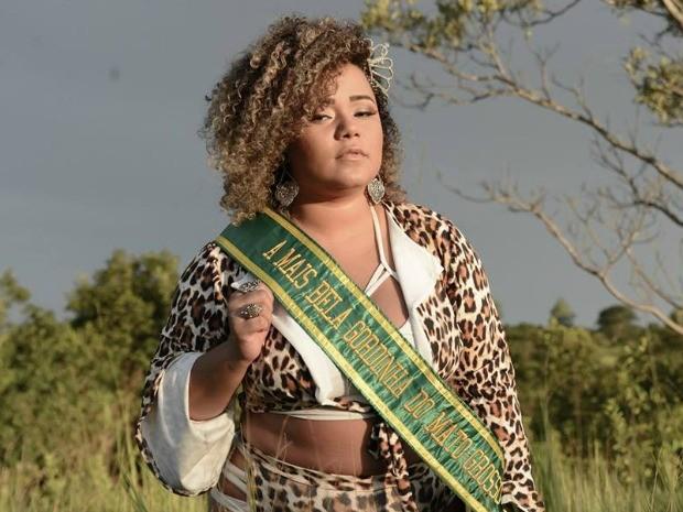 Priscila foi eleita a gordinha mais bonita de Mato Grosso  (Foto: Roger Andrade/ Divulgação)