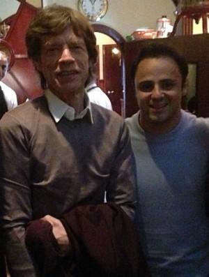 Felipe Massa em jantar com Mick Jagger (Foto: Reprodução / Instagram)