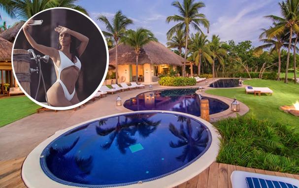 Kim Kardashian curte férias no México (Foto: Reprodução/ Instagram)