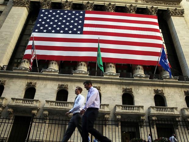 PIB dos EUA, bandeira americana (Foto: Spencer Platt/Getty Images North America/AFP)