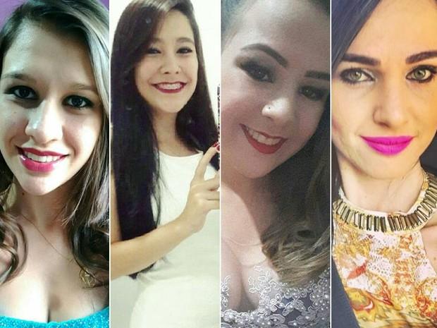 Camila, Ana Carolina e Bruna morreram no acidente; Nayara está internada no HC em Ribeirão Preto (Foto: Arquivo pessoal/Divulgação)