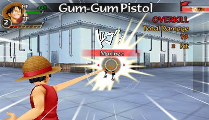O sistema de batalha é a única coisa que se salva em One Piece: Romance Dawn (Foto: pt.videogamer.com)