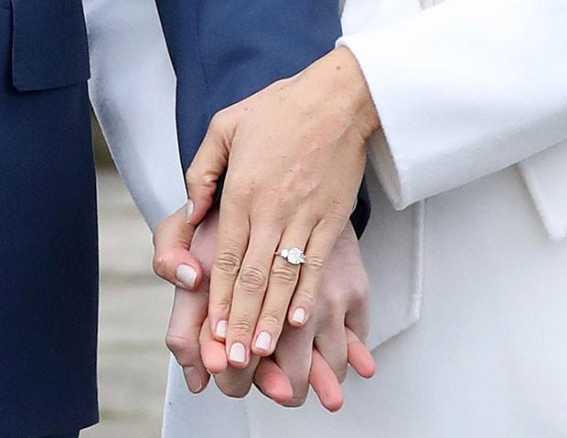 O anel de noivado de Meghan Markle (Foto: Getty Images)