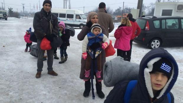 Família Al-Maari fugiu da Síria há três semanas (Foto: BBC)