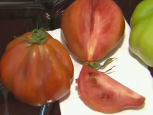 Tomate em gomos é uma das novidades da feira (Foto: Reprodução/EPTV)