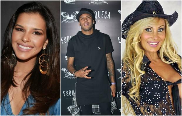Mariana Rios, Neymar e Angela Bismarchi  (Foto: AgNews/Reprodução)