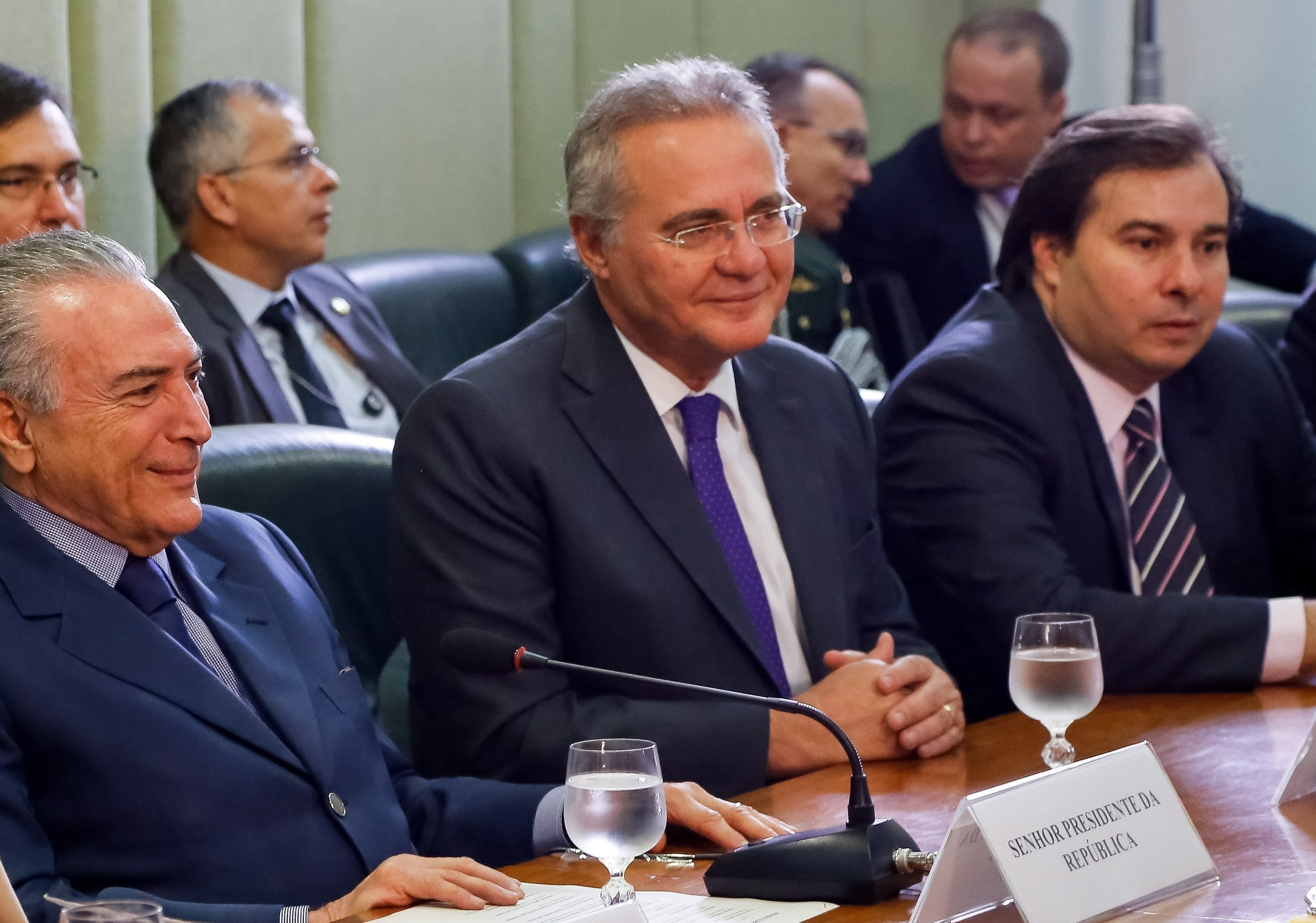 Michel Temer, Renan Calheiros e Rodrigo Maia