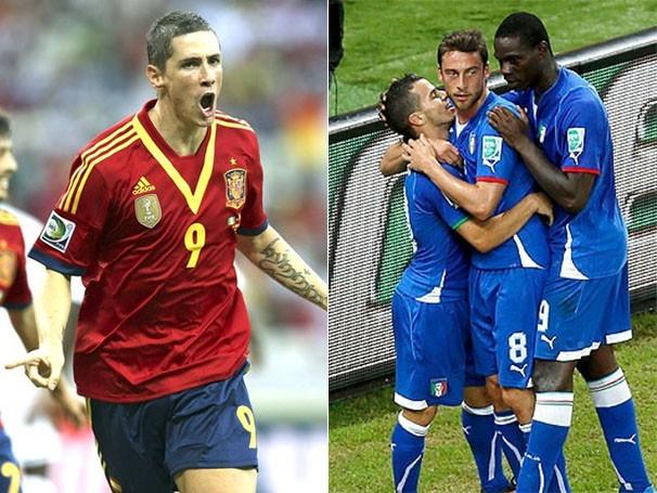 A atual campeã do mundo, Espanha, enfrenta a Itália na semifinal (Foto: AFP / Reuters / Reprodução: globoesporte.com)