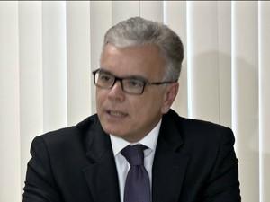 Secretário de Segurança do Espírito Santo, André Garcia, fala sobre manifestações (Foto: Reprodução/TV Gazeta)
