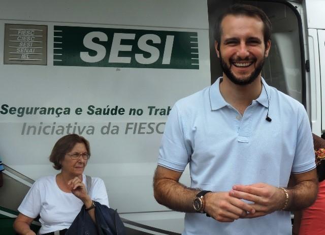 Apresentador João Salgado (Foto: Géssica Valentini/G1)