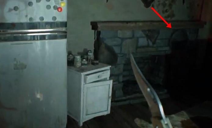 Primeiro item secreto aumenta a vida máxima do personagem de Resident Evil 7 (Foto: Reprodução/Felipe Demartini)