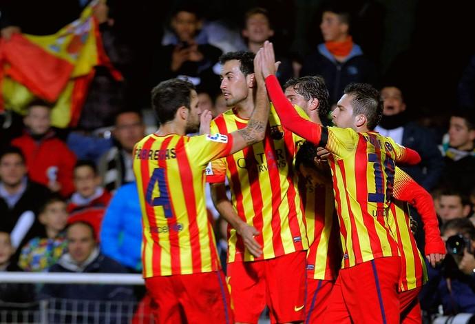 comemoração Barcelona (Foto: AFP)