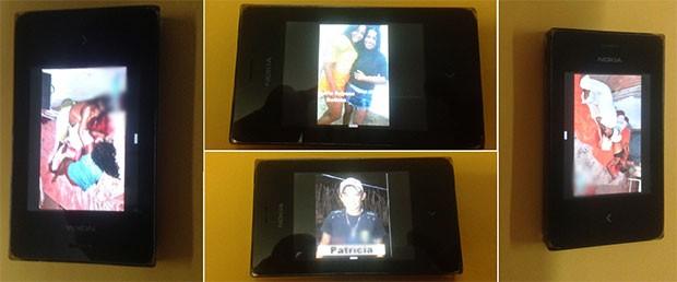 Telefone apreendido contém imagens das vítimas e da chacina ocorrida em Itajá  (Foto: Felipe Gibson/G1)