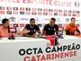 Giva, Jaime e Samuel Pires: Joinville apresenta trio de reforços para Série B