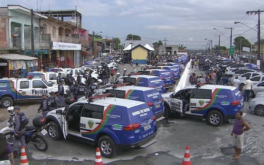 Viaturas e militares foram apresentados no lançamento (Foto: Jornal do Amazonas)