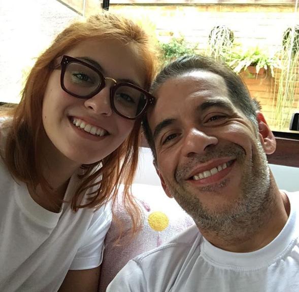 Pietra com o pai, Leandro Hassum (Foto: Reprodução)