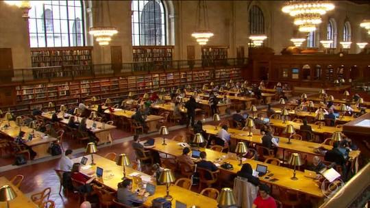 Salão de leitura da biblioteca pública de NY abre depois de grande reforma