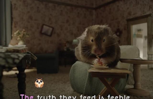 """Hamster estrela o clipe de """"Chained to The Rythm"""" (Foto: Reprodução)"""
