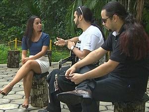Ruthiene Bindá bate-papo com a banda Critical Age (Foto: Amazônia em Revista)