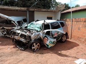 Político e outras quatro pessoas morreram em acidente perto de Correntina, na Bahia (Foto: Sigi Vilares/Blog do Sigi Vilares)