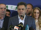 Aécio deseja sucesso a Dilma e diz que a prioridade é unir país (Reprodução GloboNews)