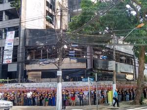 Ato marca 28º dia de greve do INSS no PA (Foto: Alexandre Yuri/G1)