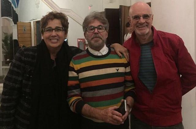 Claudia Jimenez, Edwin Luisi e Marcos Caruso (Foto: Arquivo pessoal)