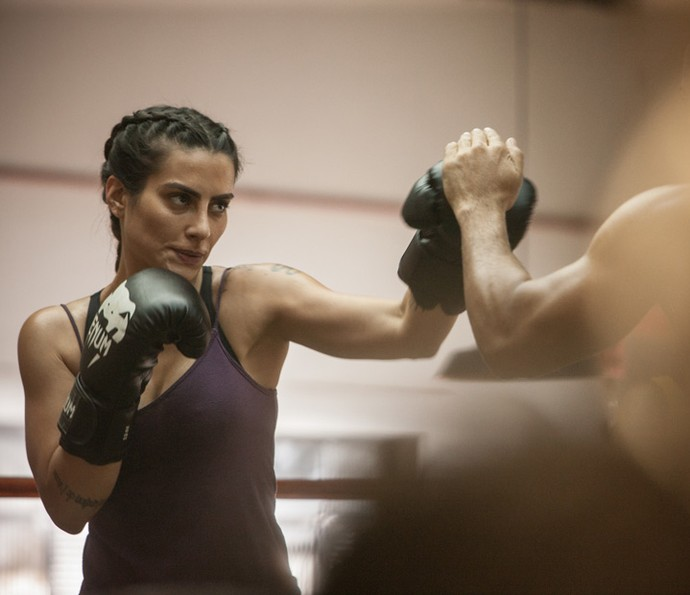 Cleo Pires praticou luta por seis meses para viver Vivianne no filme sobre José Aldo (Foto: Divulgação)