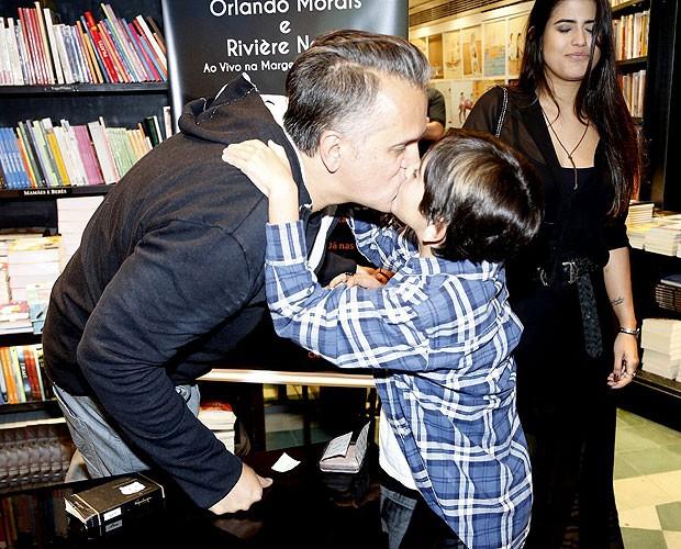 Orlando Morais e o filho, Bento (Foto: Roberto Filho  / AgNews)