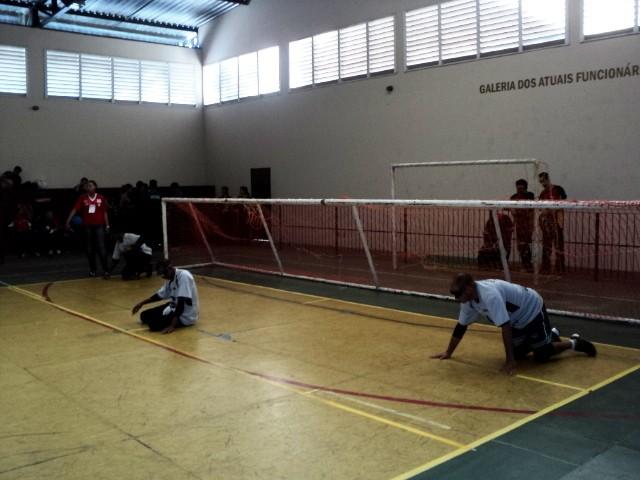 Atletas de golbol de Uberlândia, UFU (Foto: Fernando Dias/Arquivo Pessoal)