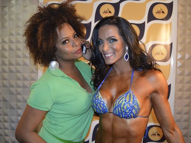 Adriana Bombom e Carla Prata em competição de fisiculturismo no Rio (Foto: Rodrigo Mesquita/ Divulgação)