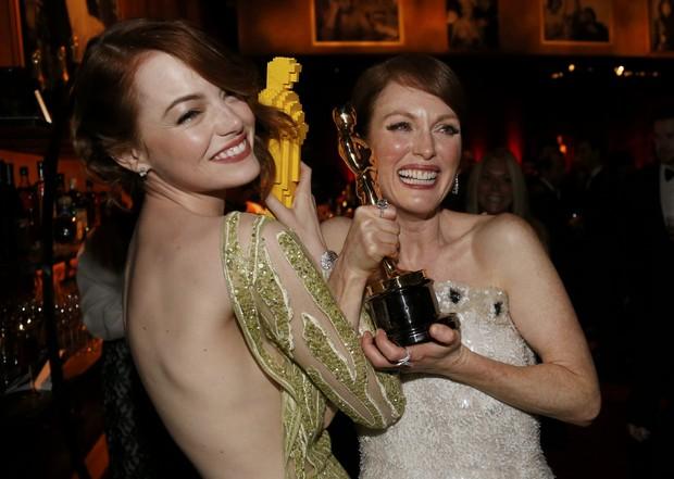 Emma Stone e Julianne Moore (Foto: Reuters/Agência)