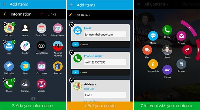 Onyu é um aplicativo que ajuda o usuário a manter a agenda telefônica sempre atualizada (Foto: Divulgação/Windows Phone Store)