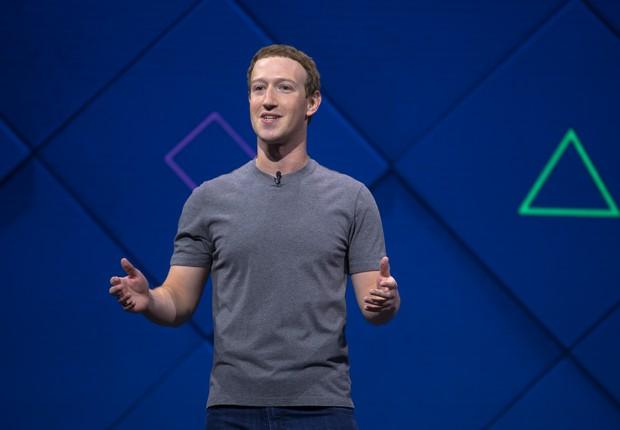 Mark Zuckerberg, CEO do Facebook, durante a conferência F8 (Foto: Divulgação)