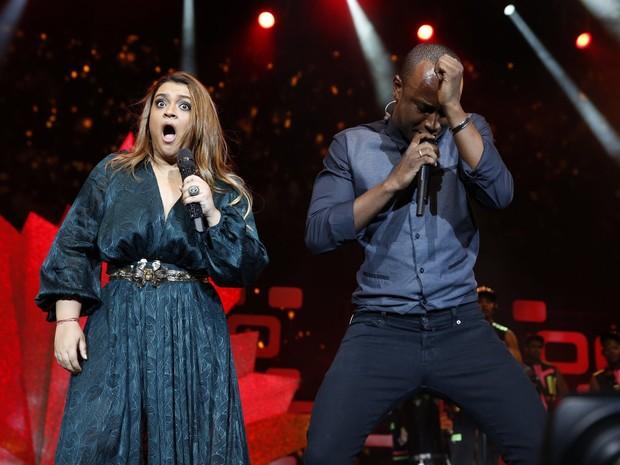 Preta Gil canta com Israel Novaes em gravação de seu DVD no Rio (Foto: Felipe Panfili/ Ag. News)