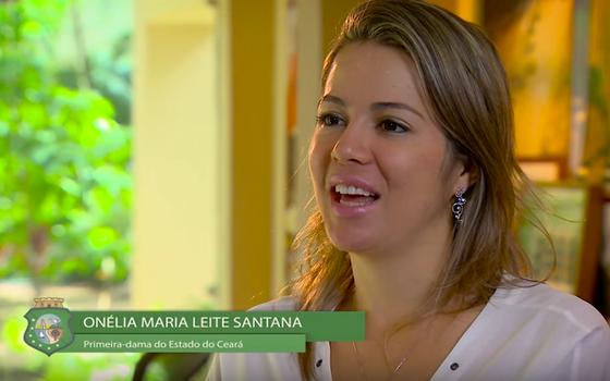 A primeira-dama do Ceará, Onélia Santana (Foto: Reprodução/ Youtube - Governo do Ceará)