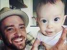 Justin Timberlake e Jessica Biel mostram foto fofa do filho