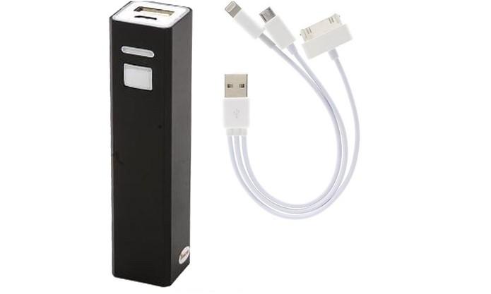 Carregador portátil para celular é compatível com Android e iPhone (Foto: Divulgação/WMT)